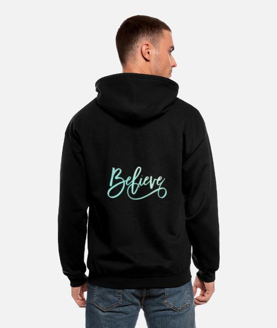 Master Hoodies & Sweatshirts - Believe Jesus Christian Religious Blessed - Men's Zip Hoodie black
