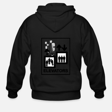 Lift Elevator Elevator Sign - Men's Zip Hoodie