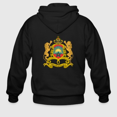 Coat of arms of Morocco svg - Men's Zip Hoodie