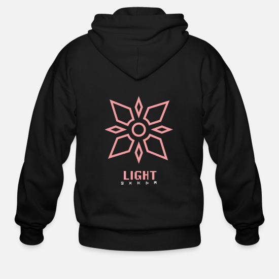 Lightning Hoodies & Sweatshirts - Light - Men's Zip Hoodie black