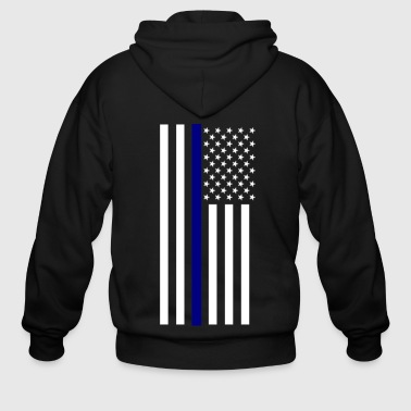 Thin Blue Line - Men's Zip Hoodie