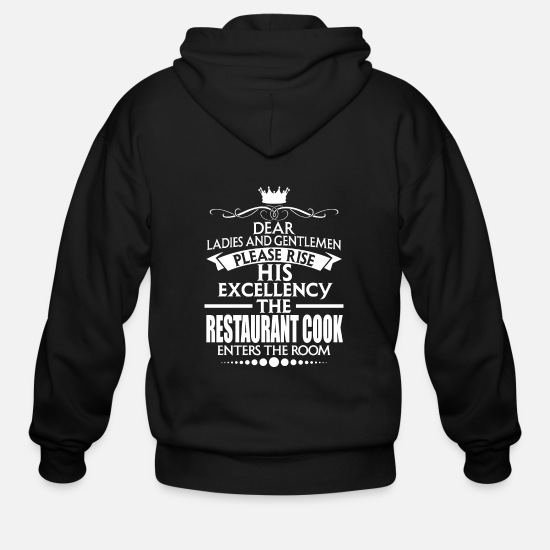 Birthday Hoodies & Sweatshirts - RESTAURANT COOK - EXCELLENCY - Men's Zip Hoodie black