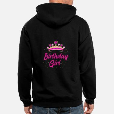 Birthday Child Birthday Girl Gift Idea Birthday Party - Men's Zip Hoodie