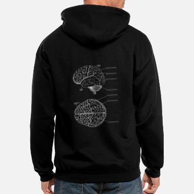 Brain Storm brain storm designer graphic - Men's Zip Hoodie