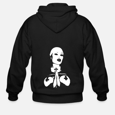 Nun The White Nun - Men's Zip Hoodie