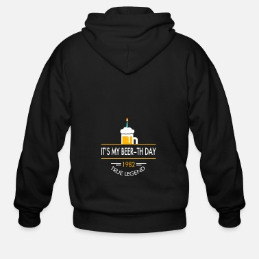 Awesome It s My Beer th Day 1982 True Legend - Men's Zip Hoodie