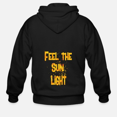 Feeling feel the sun light - Men's Zip Hoodie