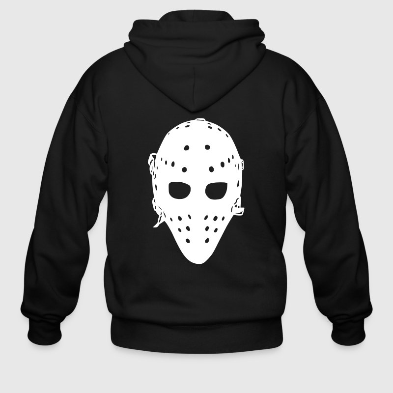 Vintage Hockey Goalie Mask - Men's Zip Hoodie