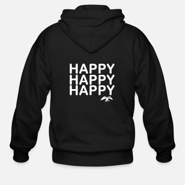 Happiness Happy Happy Happy Duck - Men's Zip Hoodie