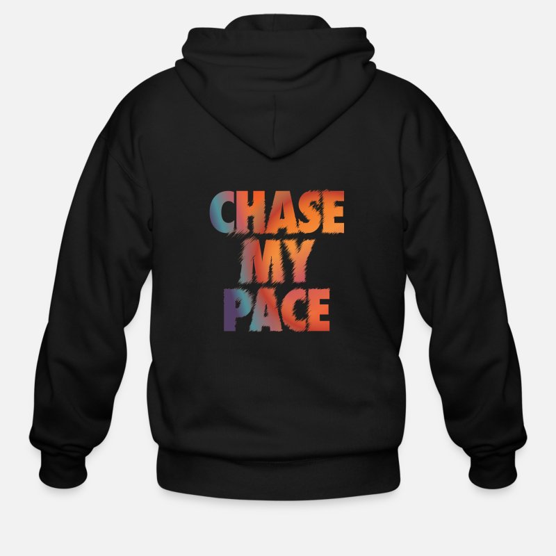 Pace Hoodies & Sweatshirts - Chase My Pace - Men's Zip Hoodie black