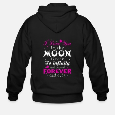 Love You Love Love you to the moon - Men's Zip Hoodie
