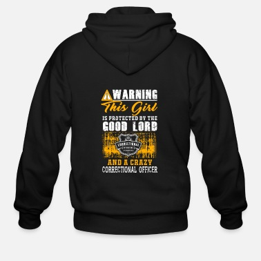 Correctional officer - this girl is protected by - Men's Zip Hoodie