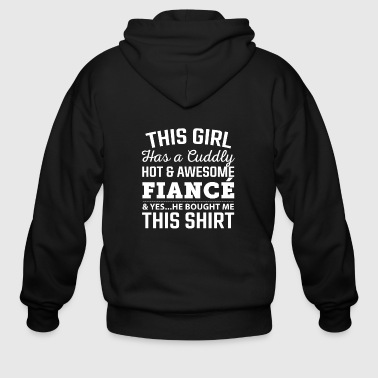 Army Fiance Fiance - This girl has a cuddly awesome fiance - Men's Zip Hoodie