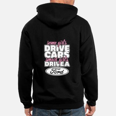 Michael Clifford Smart girls drive a ford - Men's Zip Hoodie