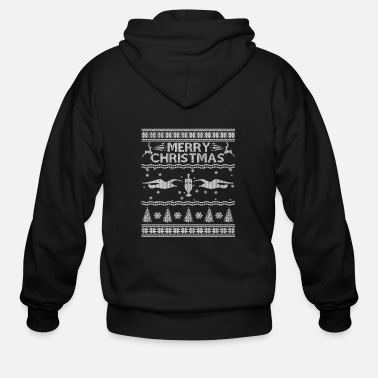 Uk Ugly Christmas sweater for Brighton Hove fan - Men's Zip Hoodie