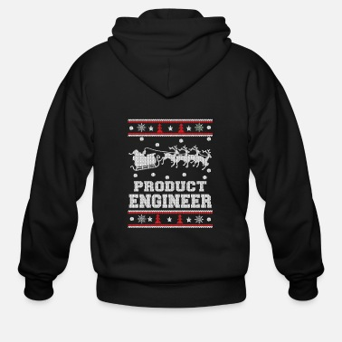 Plagiarism Product engineer - Ugly Christmas Sweater - Men's Zip Hoodie