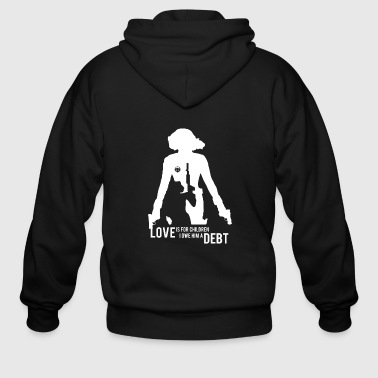 Basement Black widow - Love is for children awesome tee - Men's Zip Hoodie