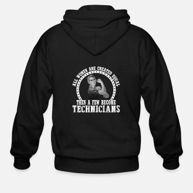 Stage Technicians - A few women become technicians - Men's Zip Hoodie