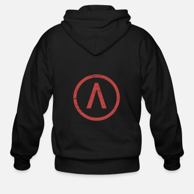 Greece Red Sparta Lambda - Men's Zip Hoodie