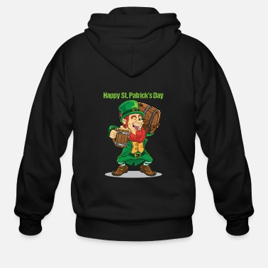 Day Happy St. Patrick Day - Men's Zip Hoodie