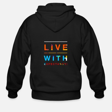 Live With Expectation! - Men's Zip Hoodie