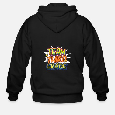 Team Third Grade Back To School - Men's Zip Hoodie