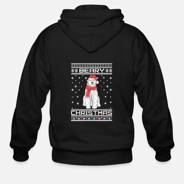 Ugly christmas bear - Men's Zip Hoodie