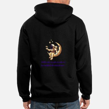 Difficult roads leads to beautiful destinations - Men's Zip Hoodie