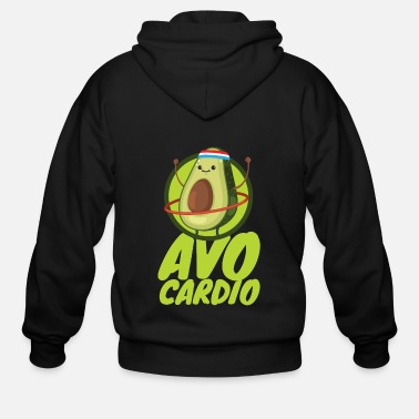 Cardio Avo Cardio - Fitness Avocado - Men's Zip Hoodie