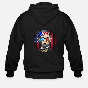 Shade Abraham Lincoln President on 4th Of July - Men's Zip Hoodie