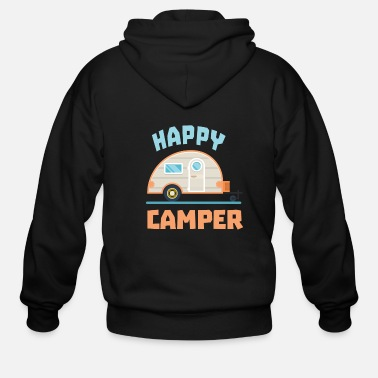 Quote Happy Camper Camping - Men's Zip Hoodie