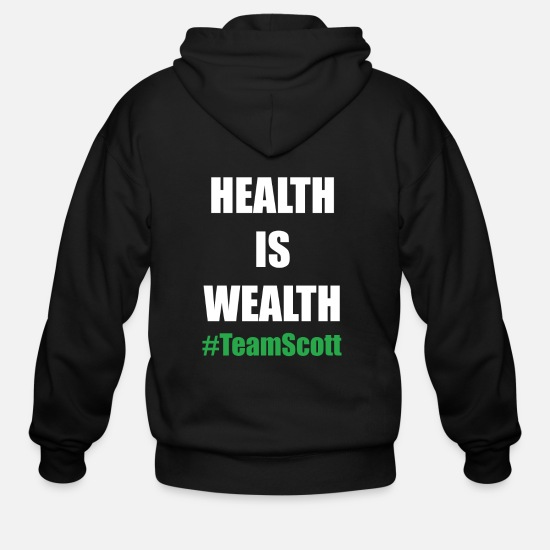 Active Hoodies & Sweatshirts - Team Scott Health Is Wealth - Men's Zip Hoodie black