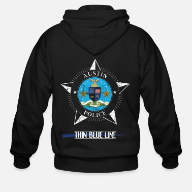 Police Police T Shirt Police Gifts Austin Texas Police Shirt - Men's Zip Hoodie