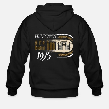 Wedding Day Gothic Birthday Princessess Castle Born 1975 - Men's Zip Hoodie