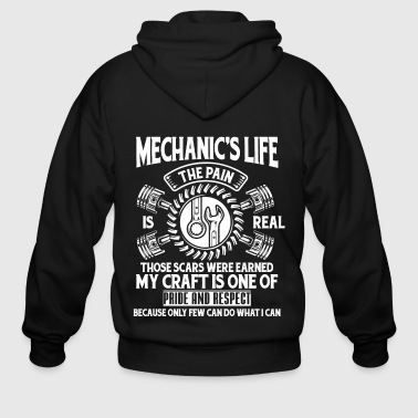 The Mechanic's Life T Shirt - Men's Zip Hoodie