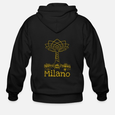Tree Milan tree of life as a gift idea for fashionistas - Men's Zip Hoodie