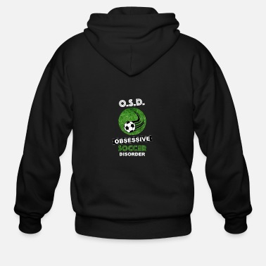 Soccer Ball Soccer Obsession - Men's Zip Hoodie