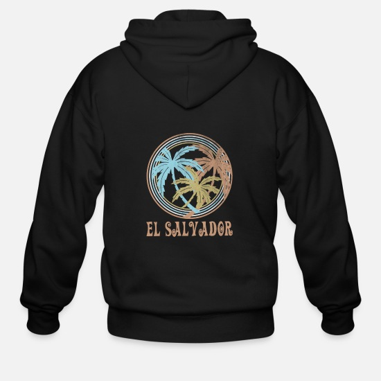 El Salvador Hoodies & Sweatshirts - El Salvador - Men's Zip Hoodie black
