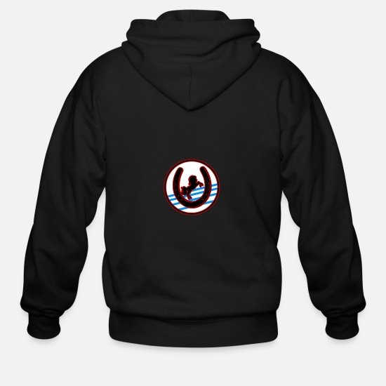 Horse Racing Hoodies & Sweatshirts - Horse - Men's Zip Hoodie black