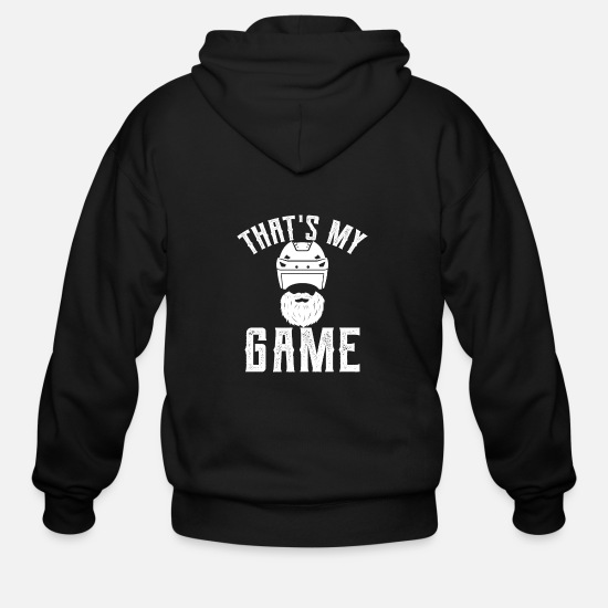 Field Hoodies & Sweatshirts - That's my game - ice hockey, ice, bat, puck - Men's Zip Hoodie black