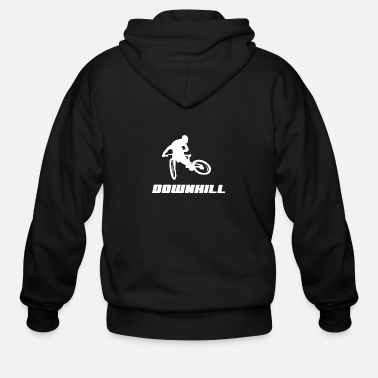 Bicycle Downhill, Mountainbike, Gift, MTB - Men's Zip Hoodie