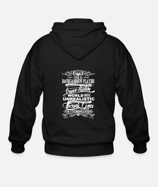 Backgammon's World Hoodies & Sweatshirts - Backgammon Shirt - Men's Zip Hoodie black