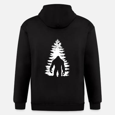 Hooded Sweatshirt Men Custom Pullover Fleece Hoodie Sasquatch Bigfoot