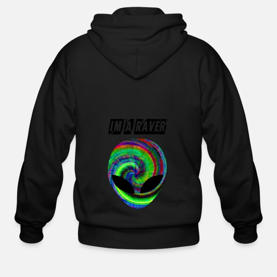 Love Hoodies & Sweatshirts - im a raver - Men's Zip Hoodie black
