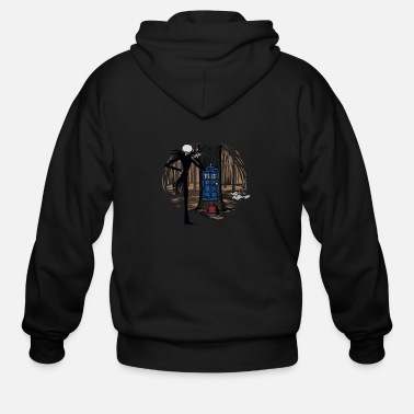 Halloween Who s This vectorized - Men's Zip Hoodie