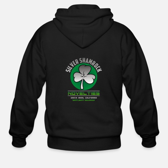 Shamrock Hoodies & Sweatshirts - Silver Shamrock - Men's Zip Hoodie black