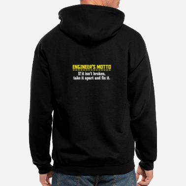 Motto engineers motto - Men's Zip Hoodie