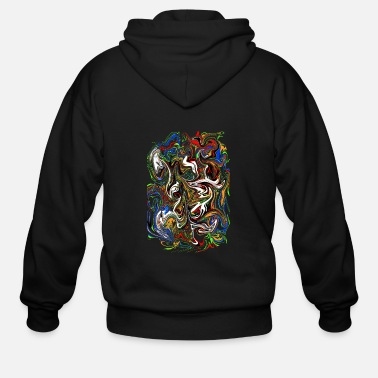 Color Splash Color Splash - Men's Zip Hoodie