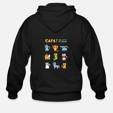 Cats of Myth and Legend - Men's Zip Hoodie