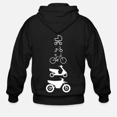 Career Motorcycle Career - Men's Zip Hoodie